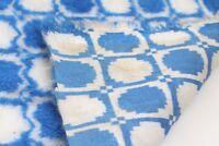 Stoffbahn Stoff blau weiß original vintage 1970er Synthetik vintage lfd. Meter