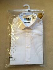 Next Men's Regular Double Cuff Cotton Blend Formal Shirts