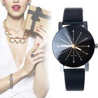Genfer Leder Edelstahl Analoge Quarz Armbanduhr der Frauen Heißer Verkauf Watch