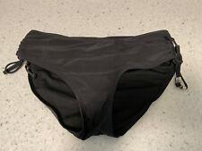New listing black lined gathered sides CATALINA  swim suit bikini bottom large 12 - 14