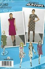 Simplicity Sewing Pattern 2282, Project Runway Dresses & Necklace Size 4 -12 NEW