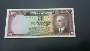 TURKEY 50 KURUS BANKNOTE 1930