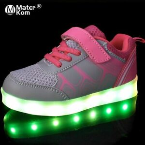 Size 25-37 Children Led Light Up Shoes Non-slip Shoes With Light Wear-resistant