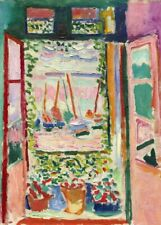 The Open Window, detail, 1905, HENRI MATISSE, Expressionism, Fauvism Art Poster