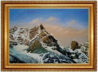 Ölbild Breithorn, Riemannhaus, Sommerstein Bergbilder Alpen HANDGEMALT F:50x70cm
