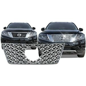 Chrome Grille Overlay FOR 2013 2014 2015 2016 Nissan Pathfinder