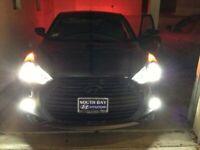 White LED Angel Eye Fog Lamps Halo Driving Light Kit for Hyundai Veloster Turbo