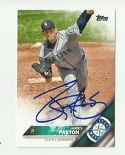 Seattle Mariners JAMES PAXTON  Signed 2016 Topps Card #485