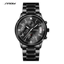 Herrenuhr Sport Chronographen Edelstahl Armband Uhr Armbanduhren Taucheruhren