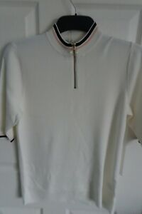Next 3/4 sleeve knitted top jumper shirt in white size 6