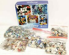 5 Disney Puzzles Set Mickey Minnie Donald Goofy 300-750 Ceaco Dining Kiss Wizard