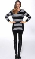 Acrylic Crewneck Striped Regular Jumpers & Cardigans for Women