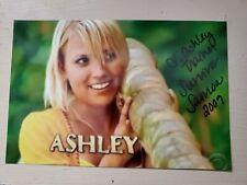 Survivor Somoa Ashley Trainer signed 4x6 photo AUTOGRAPHED