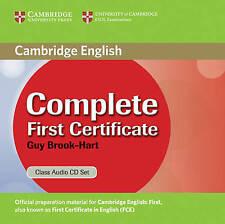 Complete First Certificate Class Audio CD Set, Brook-Hart, Guy, Good, Audio CD