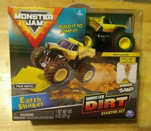 Monster Jam - Earth Shaker Monster Dirt Starter Set with Kinetic Sand 8oz
