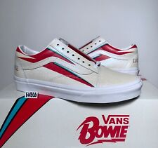 43e58bf665 Vans Old Skool X David Bowie Aladdin Sane True White Red Blue DB Size 3.5-