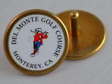 DEL MONTE Golf Course Logo Golf BALL MARKER w/stem