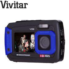 Vivitar Nero Blu 18 Mega Pixel Doppio schermo Selfie Fotocamera digitale impermeabile