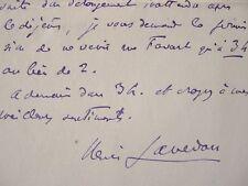 Henri Lavedan arrange un rendez-vous.