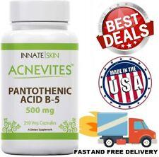 Pantothenic Acid 500 MG Vitamin B5 Support Skin Hair Nails Supplement 250 Caps