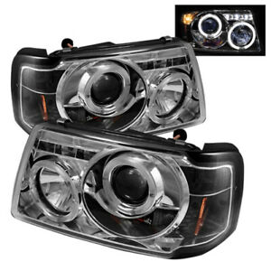Spyder for Ford Ranger 01-11 1PC Projector Headlights LED Halo LED Chrm PRO-YD-F
