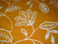 18 2/8 Yds Floral Micah Crewel Embroidered Cotton Upholstery Fabric For Less~