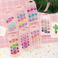 10pcs Colorful BB Snap Hair Clip Hairpin Barrette Headwear For Baby Kids Girls