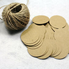 300Pcs blank craft Paper Hang Tag Diameter 4cm With 30m String For Wedding Gift