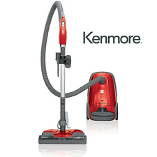 New Kenmore 81414 400 Series Bagged Canister Vacuum w/ HEPA Filter Red