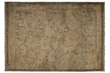 14'8 x 10'1 Large Handmade Afghan Wool Kilim Area Rug Brown Color Carpet #6182