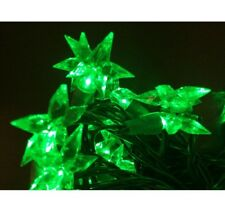 Cadena de Luces Led Estrella de Navidad Verde Estrellas Luminosas Navidad
