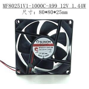 SUNON MF80251V1-1000C-A99 8025 12V 1.44W Magnetic Suspension Silent Chassis Fan