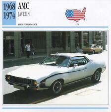 1968-1974 AMC Javelin Classic Car Photo/Info Maxi Card