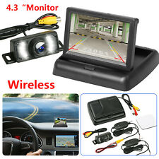 "Wireless Backup Camera 4.3"" Monitor Kit Rear View System Night Vision Waterproof"