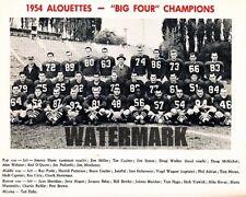 Cfl 1954 Montreal Alouettes Black & White Team Picture 8 X 10 Photo Picture