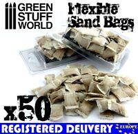 50x flexible SANDBAGS - Basing Model sand bag trench 40k tank armor Juweela