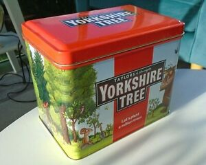 Limited Edition Yorkshire Tree Tea Tin Gruffalo Hinged Lid Caddy Collectable