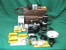 Minolta SRT-101 35mm SLR Film Camera Bundle + 58mm 28mm 85-200mm Lenses BUNDLE