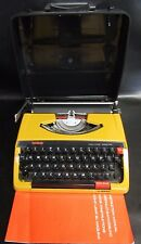 RETRO ORANGE  BROTHER DELUXE 250TR TYPEWRITER WITH CASE & MANUAL - NEW RIBBONS