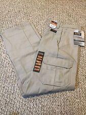 Wrangler Workwear Khaki Functional Cargo Pants Mens Size 36x34 NEW