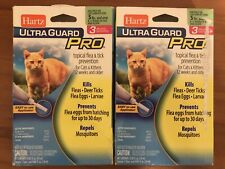 2-Hartz UltraGuard Pro Flea Tick Drops for Cats Kittens - 3 Monthly Treatments