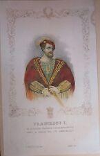 1845ca FRANCESCO I di Francia litografia Bacchini Vigotti signore Parma Piacenza