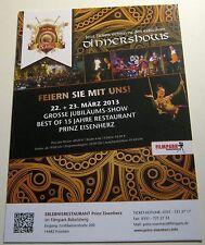 Advertising events shows Prinz Eisenherz Restaurant Postdam - unposted
