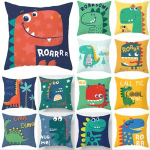 Cartoons Dinosaur Throw Pillow Case Cushion Cover Home Sofa Kids Bedroom Decor