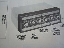 GROMMES 55C AMP AMPLIFIER PHOTOFACT