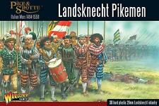 LANDSKNECHT PIKEMEN - PIKE & SHOTTE  - WARLORD GAMES  - SHIPPING NOW