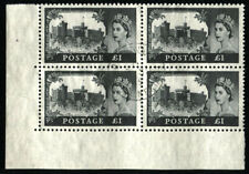 Great Britain Sc#374 Sg#598 Caernarfon Castle Wales Postage Stamps Block Used
