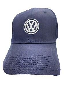VW Volkswagen Driver Gear Logo Navy Baseball Hat Cap- Adjustable Back