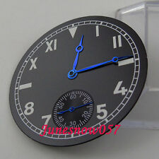 Fit ETA 6498 movement 38.9mm sterial California watch Dial with blue hands D70