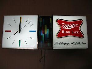 """BEST VTG 1967 MILLER HIGH LIFE BEER """" DISCO """" MOTION BAR CLOCK PUB LIGHT SIGN A+"""